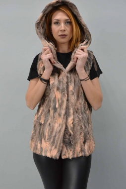Swakara Fur Vest With Hood.