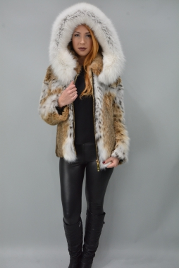 Lynx  Fur Jacket With Hood