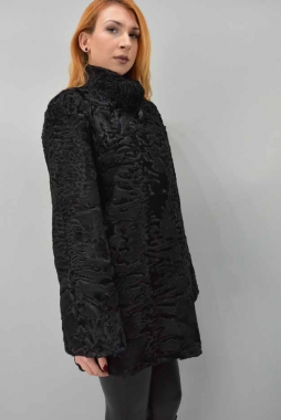 Swakara Fur Jacket with Collar