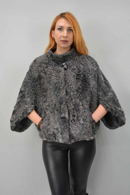 Swakara Fur Cape With Collar