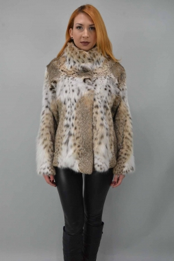 Lynxs Fur Jacket 	With Collar