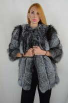silver fox fur jacket front